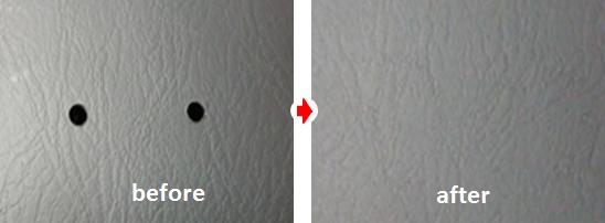 内張り穴リペア